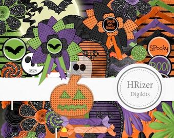 Halloween Digital Scrapbook Kit
