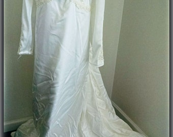 Late 1950s Wedding Gown- Plus size