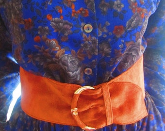 Vintage Brown Suede Belt