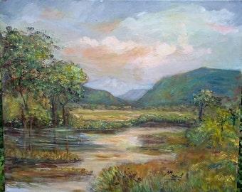 Scottish Landscape original painting 60cm x 50cm