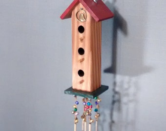 Birdhouse sparkle wood decorative wall hanging lovely