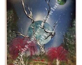 """Earth Love 19"""" x 13"""" Spray Paint Art"""