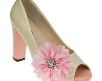 Flora Pink Shoe Clips
