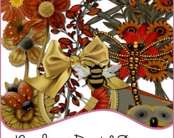 Designer Resources,Scrapbooking,Autumn,Card Making,Autumn Elements,Digital Elements