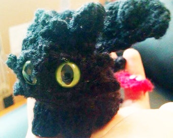 Mini Knitted Toothless Plush