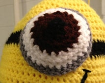 One-eyed Minion crocheted hat