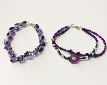 Twisted Bracelet set with Swarovski crystals