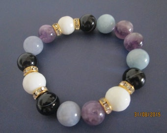 Stretch Bracelet with semi precious stones