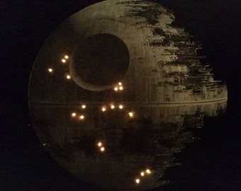 Death Star Wall Art with Lights