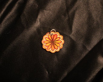 Red ,Yellow, and Orange flower pendant