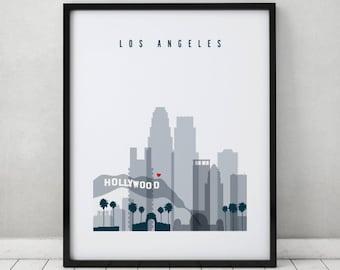 Los Angeles art print, Poster, Travel Wall art, Los Angeles California skyline, City poster Typography art, Home Decor, Gift ArtPrintsVicky