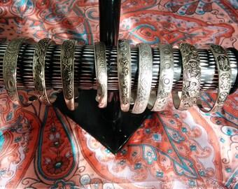 Metal silver bracelet handmade in India