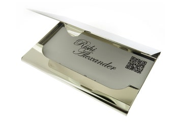 Busniness Card Holder Monogrammed Engraving Includes Carrying Pouch