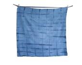 OVER-DYED: Indigo Shibori Flour Sack Dishcloth / Towel, Large-Hand Dyed