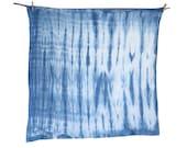 ARASHI- Indigo Shibori Flour Sack Dishcloth / Towel, Large-Hand Dyed
