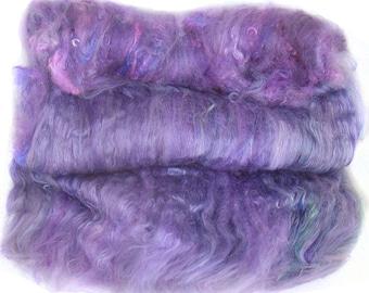 handcarded batt spinning fiber 3.1 oz
