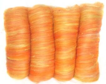 handcarded batt spinning fiber 6.8 oz
