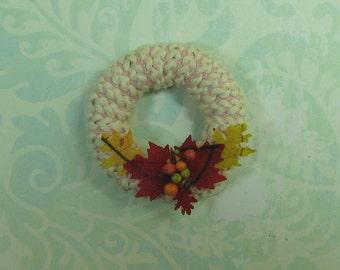 Dollhouse Miniature Cotton Braid Fall Wreath