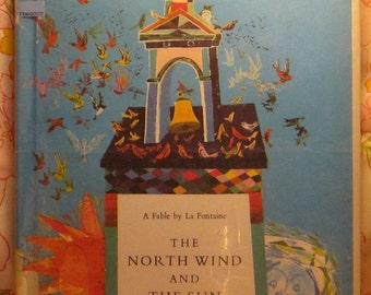The North Wind and The Sun - La Fontaine - Brian Wildsmith - 1964 - Vintage Book