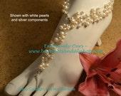 Swarovski Pearl Floating Pearl Beach Wedding Barefoot Sandals