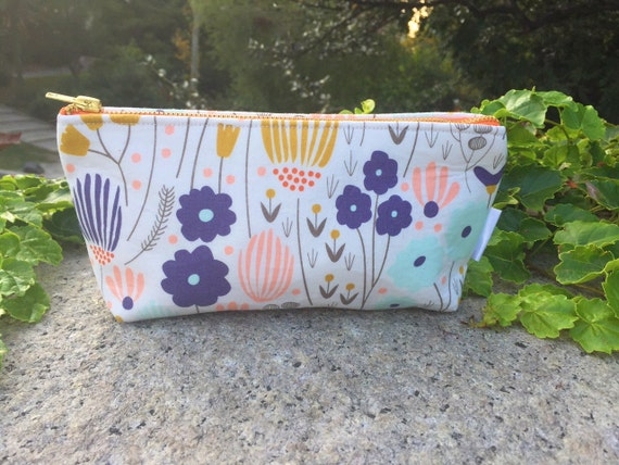 Meadow Floral Makeup Pouch, Zipper Pouch, Cosmetic Pouch, Women's Toiletry Bag