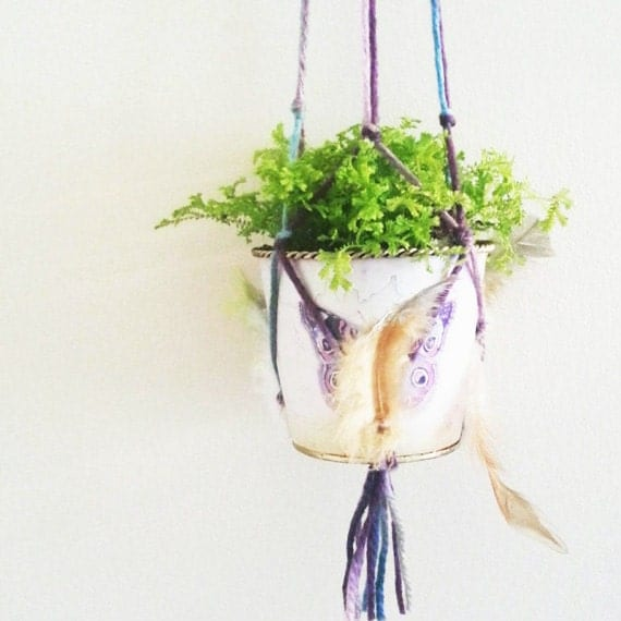 Hanging Planter Wall Decor Bohemian Decor Wall Accent
