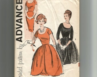 Advance Misses' Dress and Overskirt Pattern 9661