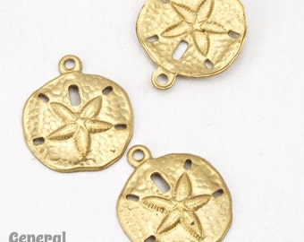 12mm Raw Brass Sand Dollar (12 Pcs) #3758