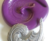 Curly Feather Silicone Mold Mould 45 mm  Sugarpaste Fimo Resin Fondant Cocolate Sugarcraft Icing Modelling Tool Marzipan