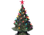 Celebrate Holiday Traditions with Ceramic Christmas Trees 16 Inch Tall Hand Made Tabletop Style - Made to Order