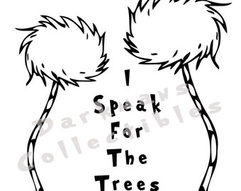 The Lorax Inspired Truffula Trees Car Vinyl Sticker - Vinyl Sticker Decal