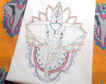 Elephant - 2 Designs -PDF Embroidery Pattern