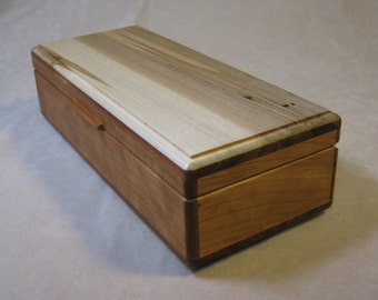 Ambrosia Maple and Cherry Jewelry Box - LB 64