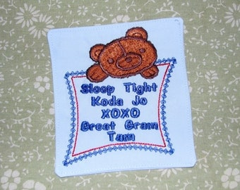 how to make embroidered clothing labels
