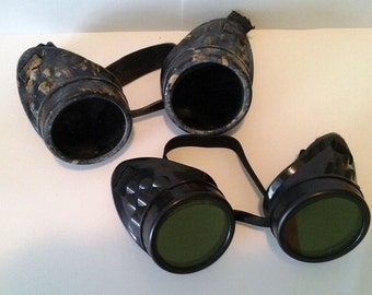 Black Goggles Mad Max Fury Road War Boys Furiosa Goth Rivethead wasteland weekend Steampunk