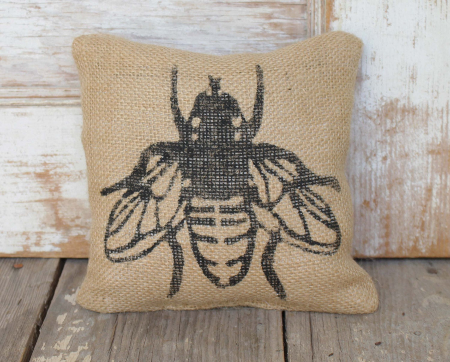 Save The Bees   Burlap Doorstop   Fabric Doorstop   Honey Bee Decor    Bumble Bee Decorations   Door Stop   Garden Decor   Nature