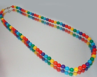 Bright Primary Colors Bead Necklace