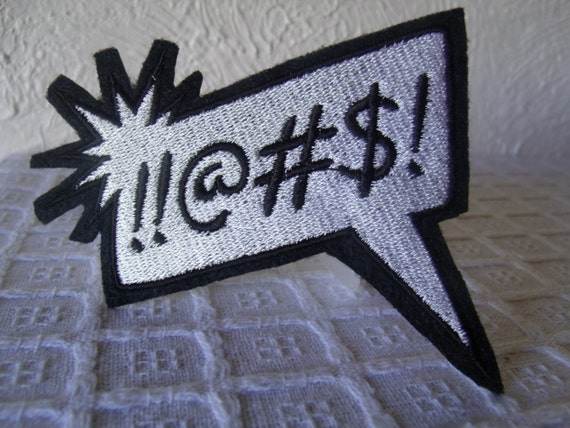 Comics word bubble embroidered iron on patch