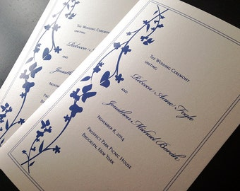 100 Sweeping Vines Wedding Ceremony Program