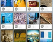 2016 Morocco Photo Desk Calendar 5x7 - photographs stationery New Year stocking stuffer Xmas photography school gift under 20