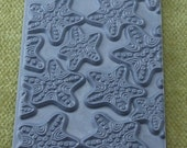 JEWELED STARFISH Star Fish Ocean Rubber Stamp for Ink, Clay, Soap, Encaustics Texture Tile Mat