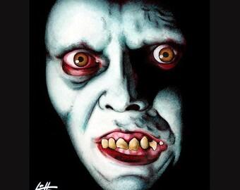 "Print 8x10"" - Captain Howdy - Pazuzu Regan MacNeil Exorcist Horror Vintage Classic Dak Art Creepy Scary Priest Gothic Evil Lowbrow Art"
