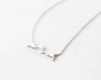 Mountain Necklace, pendant, minimalist necklace