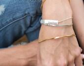 inspiracelet message link bracelet - PERSONALIZED
