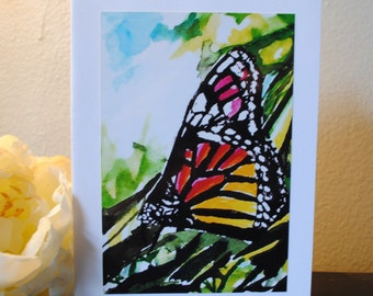 Butterfly Watercolor Print Notecard