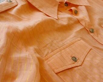 Vintage Orange Dress Blouse