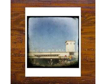 8x8 print [JCP-087] - Manly wharf