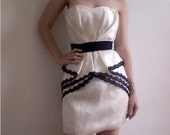 One of a kind Silk and lace Wedding/Reception/Special Occasion Dress--Size 4--(Sample Sale)
