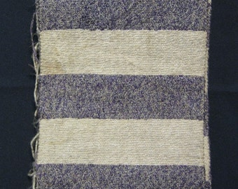 Purple Stripes - Vintage Japanese Sakiori Han Obi Traditional Belt Sash Collectible