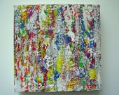 Original Abstract Acrylic Painting 8 x 8 inches